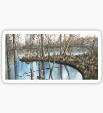 Winter's Reflection Sticker
