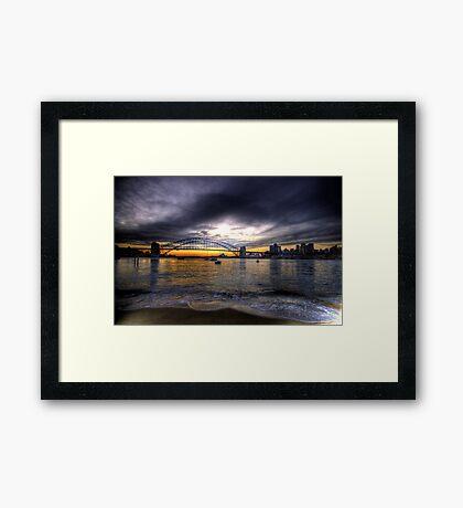 Moods Of A City - The HDR Series - Sydney Harbour, Sydney Australia Framed Print