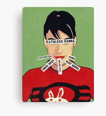 Women of Punk - Kathleen Hanna (v4) Canvas Print