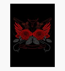Guns and Roses RED 2 Photographic Print