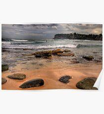 Sydney Beaches - The HDR Series, Avalon Beach, Sydney Australia Poster