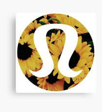 Sunflower Lululemon Canvas Print