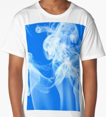 Recycled Smoke Abstract Design Long T-Shirt