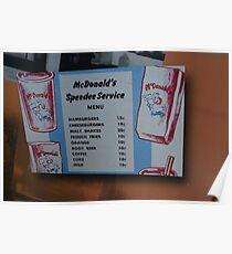 McDonalds Menu  Poster