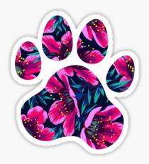 Tropical Paw Print Sticker
