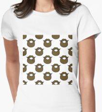 beard pattern Womens Fitted T-Shirt