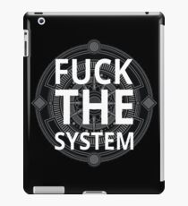 Fuck The System Black Typography Text Protest Design iPad Case/Skin