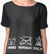 Hand Wash only Carbon Chiffon Top