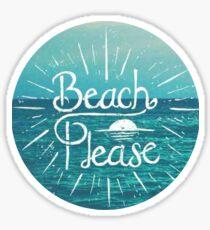 Beach Please Circle Sticker