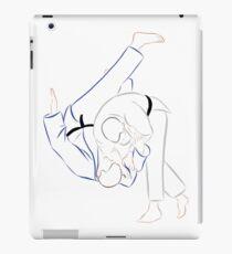 Judo line art - Seoi Nage iPad Case/Skin