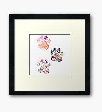 Floral Paw Print Trio Framed Print