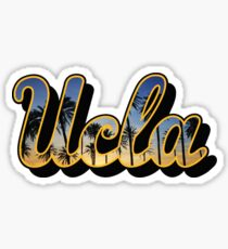 UCLA Logo Palm Trees Sticker