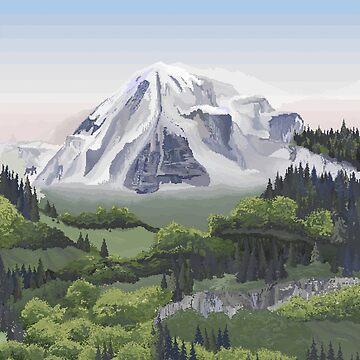 Pixel Mountain Landscape by neufinger