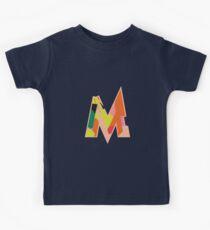 Chunky vibrant alphabet M Kids Tee