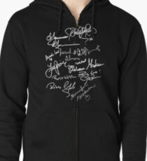 OUAT autograph (white text) Zipped Hoodie