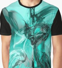 Recycled Smoke Abstract Design Graphic T-Shirt