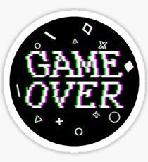 Game Over Video Game Glitch Sticker