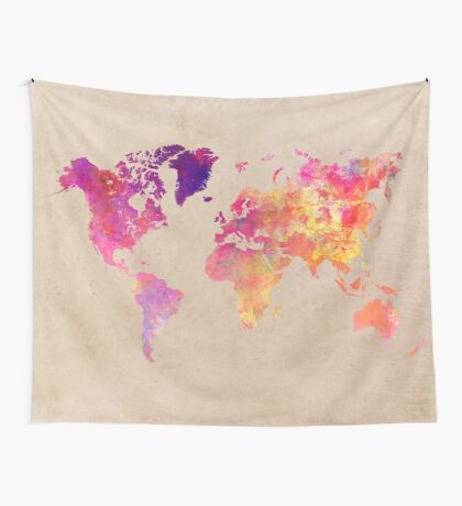 world map 93 #worldmap #map #world Wall Tapestry