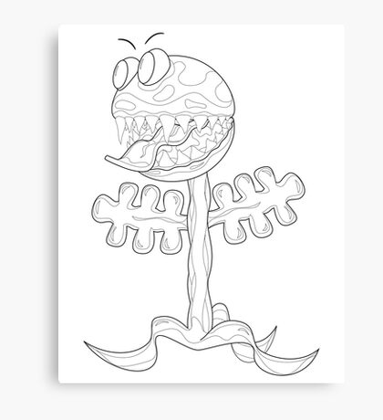Venus Fly Trap for Colouring In Canvas Print