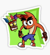 Crash Bandicoot and AKU AKU Sticker