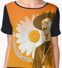 I'm Your Huckleberry Doc Holiday Tombstone Graphic Women's Chiffon Top
