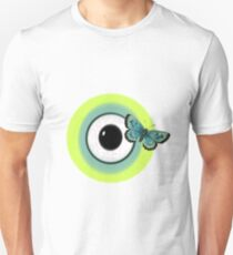 Butterfly On A Monster Eye Unisex T-Shirt