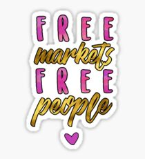 free markets free people Sticker