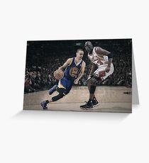 Stephen Curry & Michael Jordan Greeting Card