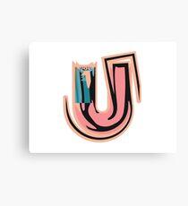 Chunky vibrant alphabet U Canvas Print