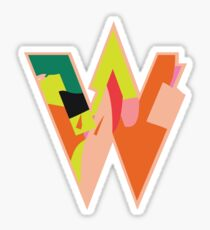 Chunky vibrant alphabet W Sticker