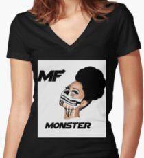 MF MONSTA Women's Fitted V-Neck T-Shirt