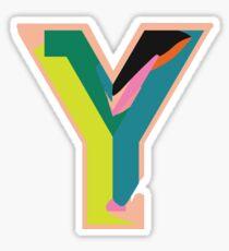 Chunky vibrant alphabet Y Sticker