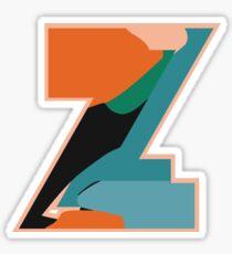 Chunky vibrant alphabet Z Sticker