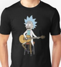 Tiny Rick Guitar - Rick and Morty Design T-Shirt