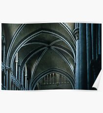 Non centred nave arches St Francis Church Switzerland 19840817 0026  Poster