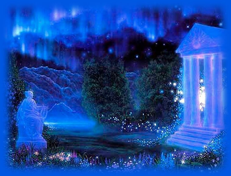 blue garden  by David s Ellens