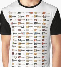 95 Pixel Guitars and Basses and a Keyboard Graphic T-Shirt