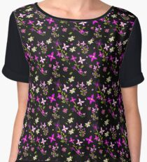 Pink Floral Delight Women's Chiffon Top