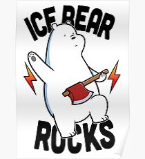 Ice bear Rocks Poster