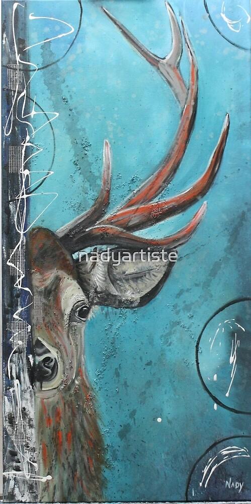 Shy the deer by nadyartiste
