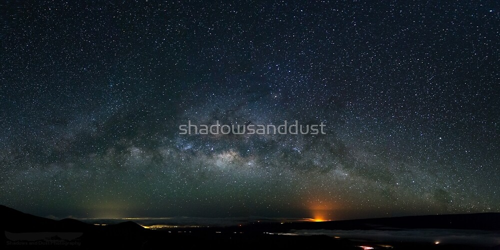 View from Mauna Kea looking toward Kilauea by shadowsanddust