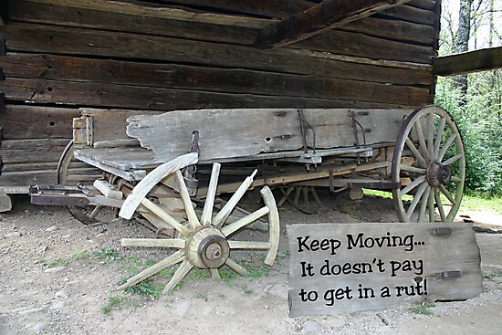 IN A RUT? by Patricia Montgomery