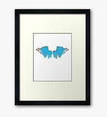 Bright Blue Wings Framed Print