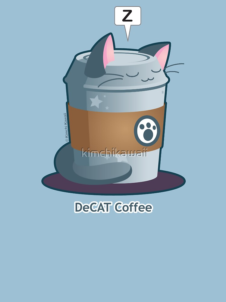 Cute Cat Coffee: Decaff Cat by kimchikawaii