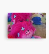 Soft Toy Grabber, Pink Doll Canvas Print