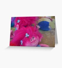 Soft Toy Grabber, Pink Doll Greeting Card