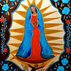 Our Lady of Guadalupe with Blue Flowers by Vaillancourt