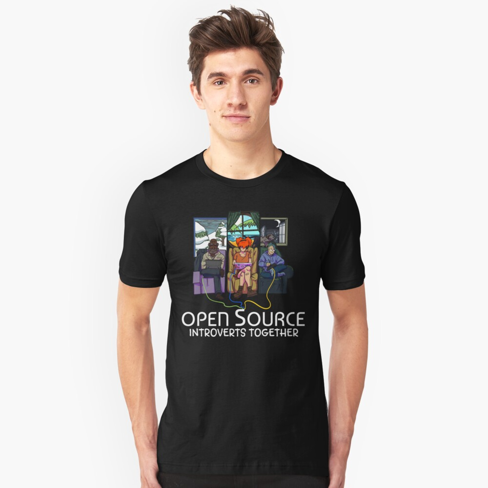 Open Source (Light) Unisex T-Shirt Front