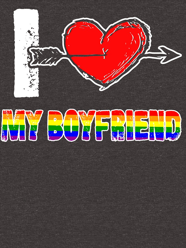 I Love my Boyfriend LGBT, Gay, Lesbian Pride day T-Shirt by Adik