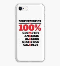 Mathematics Is 100% Magic iPhone Case/Skin